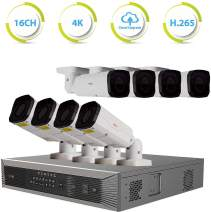 Revo America Ultra Plus 16 Ch. 4TB HDD 4K IP NVR Video Security System - Vandal Resistant Motorized Lens 8 x 4MP Bullet Security Cameras - Remote Access via Smart Phone, Tablet, PC & MAC