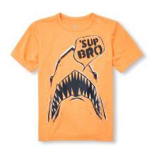 The Children's Place Big Boys' Short Sleeve Active T-Shirt