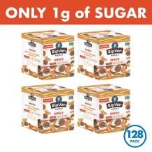 Rip Van Wafels Dutch Caramel & Vanilla Mini Stroopwafels - Low Carb Snacks (3g Net Carbs) - Non GMO Snack - Keto Friendly - Office Snacks - Low Calorie Snack (35 Calories) - Low Sugar (1g) - 128 Count