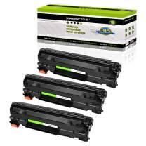 GREENCYCLE Compatible CF283A 83A Toner Cartridge Replacement for HP Laserjet Pro MFP M125a M125nw M125rnw M225dn M225dw M127fw M201dw M201n Printer (Black,3 Pack)