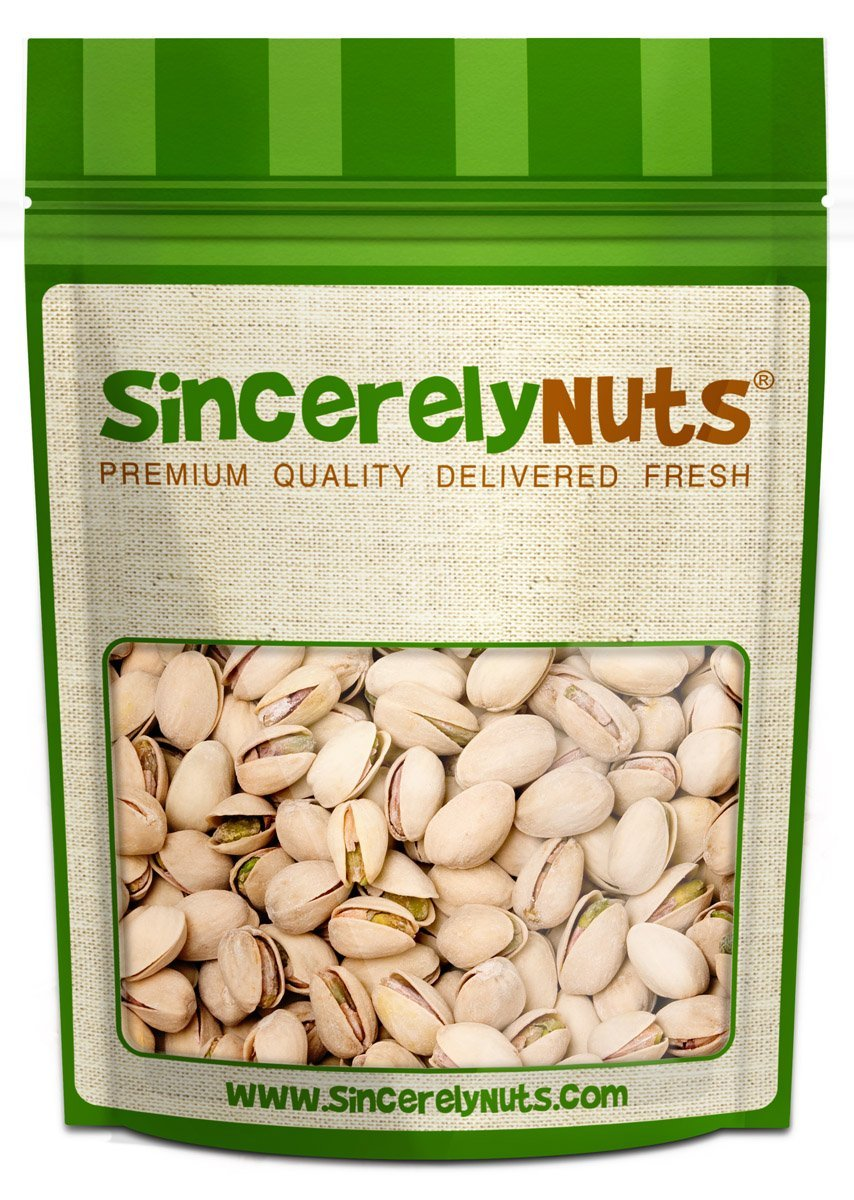 Sincerely Nuts Large Pistachios Roasted & Unsalted in Shell - 5 Lbs. Bag   Healthy Snack Food   Great for Cooking   Source of Fiber, Protein, Vitamins & Minerals   Gourmet   Kosher & Gluten Free