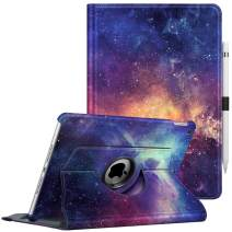 "Fintie Case for iPad 7th Generation 10.2 Inch 2019-360 Degree Rotating Smart Stand Protective Back Cover, Supports Auto Wake/Sleep for iPad 10.2"" 2019 Tablet, Galaxy"