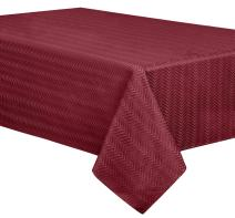"""Creative Dining Group Infinity Heavy Weight Tablecloth, 60 by 104"""", Cranberry"""