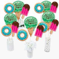 Sweet Shoppe - Candy and Bakery Birthday Party or Baby Shower Centerpiece Sticks - Table Toppers - Set of 15