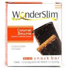 WonderSlim High Protein Snack Bar/Diet Bars - Caramel Brownie Nut (7ct) - Trans Fat Free, Aspartame Free, Kosher, Cholesterol Free