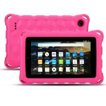 New Amazon Fire HD 10 Case (9th / 7th / 5th Generation, 2019/2017 / 2015 Released) - EJAYOUNGer [ Kids Friendly ] Light Weight Shock Proof Cover for Fire HD 10.1 inch Tablets(Pink)