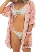 Aleumdr Women's Sexy Tie Knot Cutout Push Up Detachable Bikini Set Two Piece Swimsuit