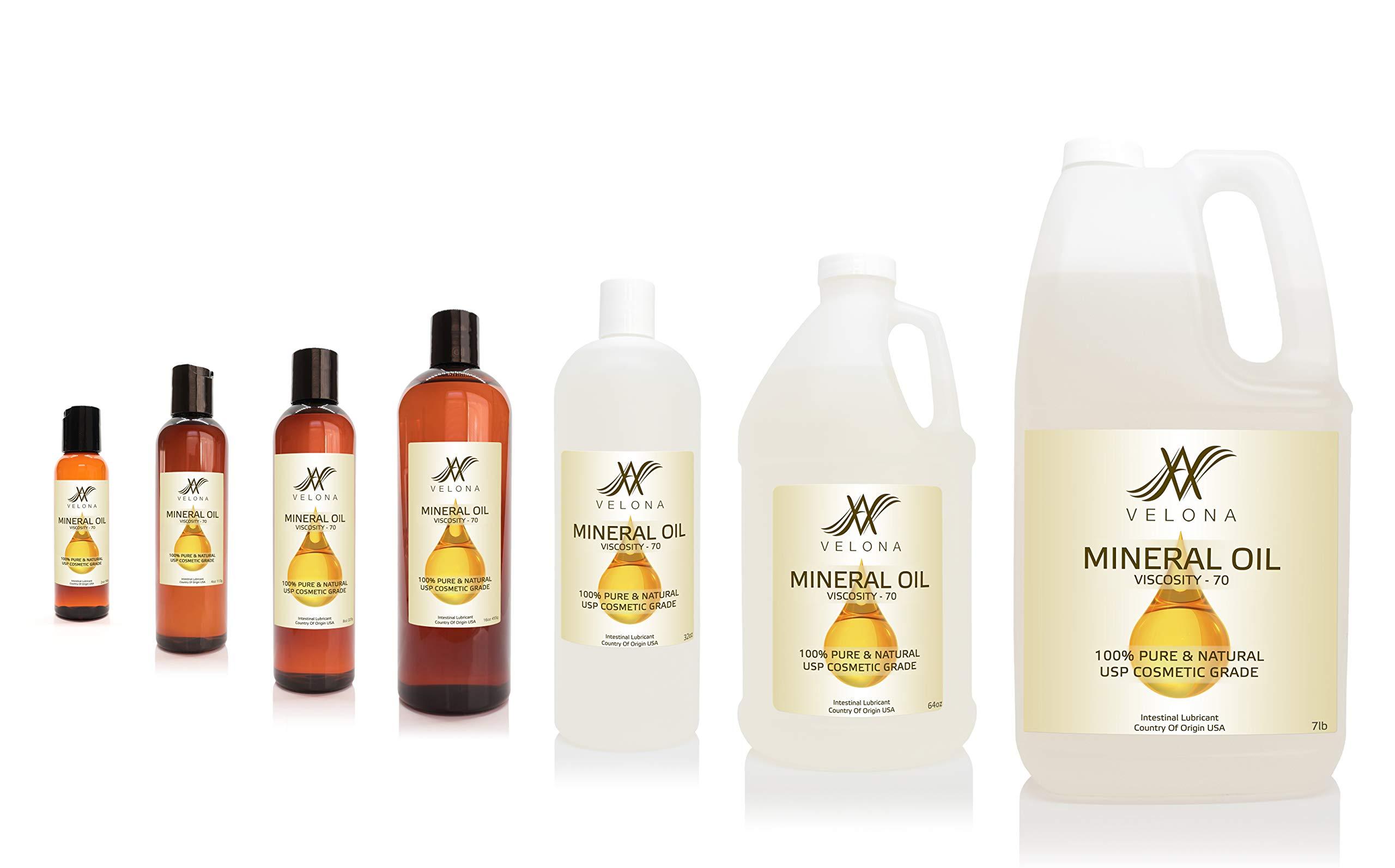 Mineral Oil 70 Viscosity NF USP Grade Lubricant Pure VELONA (24oz)