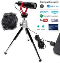 Movo Sevenoak Cardioid USB Computer Microphone with Stand Compatible with Laptop, PC and Mac - for Voice Recording, Podcasting, Gaming, Remote Work, Conference, Livestream, Chat, and Desktop Mic