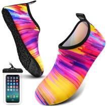 EOMTAM Water Shoes for Women and Men,Water Socks for Women Barefoot Quick-Dry Aqua Yoga Socks, Slip-on for Outdoor Beach Swim Sports Yoga Snorkeling