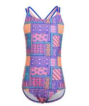 BELLOO Girls Race Back One Piece Swimsuits (4-16 Years)