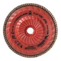 """Mercer Industries 349T060 Ceraflame Ceramic Trimmable Flap Discs, Type 29, 4-1/2"""" x 5/8""""-11, Grit 60, (10 Pack)"""