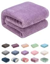 """Fuzzy Blanket or Fluffy Blanket for Baby Girl or boy, Soft Warm Cozy Coral Fleece Toddler, Infant or Newborn Receiving Blanket for Crib, Stroller, Travel, Decorative (Throw(50""""x70""""), L-Lavender)"""