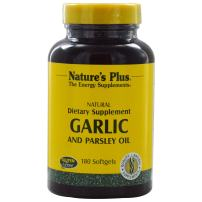 NaturesPlus Garlic & Parsley - Naturally Promotes Healthy Cholesterol & Blood Pressure Levels - 180 Softgels (180 Servings)