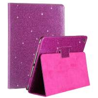 iPad Air 2 / Air 1 Case, FANSONG iPad Case 5th 6th Generation, Glitter PU Leather Folio Stand Smart Cover Auto Wake/Sleep Cases for iPad Pro, iPad 9.7-inch 2018/2017