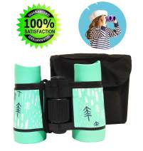 Binoculars for Kids Gift, Compact Design 4x30 Perfect for Bird Watching, Hunting, Stargazing and Outdoor Play, Educational Learning Toys for Children, Best Gift & Toys for Boys and Girls (baby blue)