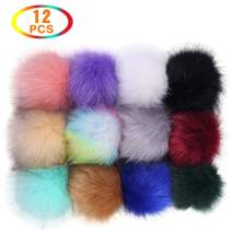 LuckyGoddness Faux Fox Fur Fluffy Pompoms Ball with Elastic Loop(12 Colors)