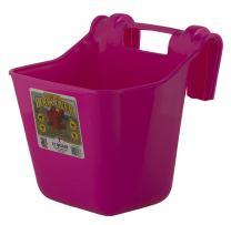 Little Giant Plastic Hook Over Feeder (Hot Pink) Heavy Duty Mountable Livestock & Pet Feed Bucket (12 Quart) (Item No. HF12HOTPINK)
