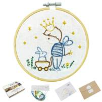 Beginner Embroidery Kits for Kids, Adults Embroidery Learning Kits, Killing Time Craft Projects- Little Prince Pattern (511186)