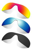 Littlebird4 3 Pairs Polarized Replacement Lenses for Oakley Antix Sunglasses - Multiple Options (Black-Orange-Ice Blue)