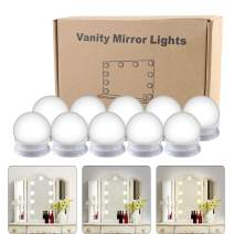 Hollywood Style LED Vanity Mirror Lights Kit, Vanity Lights Makeup Lighting Fixture Strip with 3 Color Modes, 10 Dimmable Bulbs and USB Power Adapter for Makeup Vanity Table Set in Dressing Room