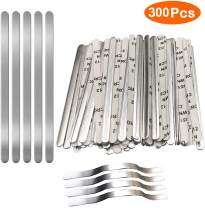Nose Bridge Strips for Mask, Linberfor Aluminum Metal Flat Strips Straps Adjustable Nose Clips Wire for DIY Face Mask Making Accessories for Sewing Crafts (300PCS)