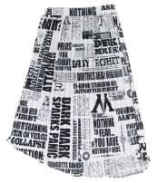 Vakkest Women's Casual Long Denim Skirts High Waist Slim Fit Button Down Blue Jean Skirts
