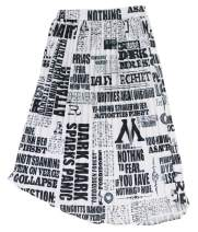 Vakkest Women's Cartoon Letter Print A-Line Skirts Graffiti Skirts Party Club