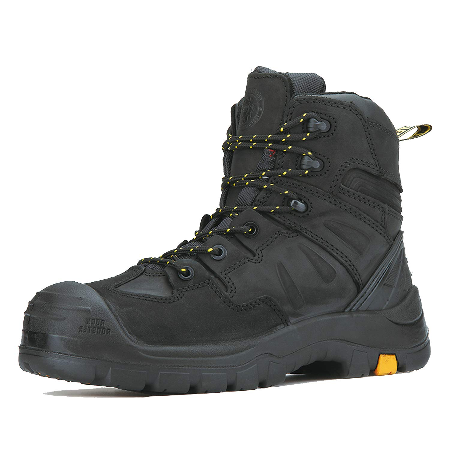 ROCKROOSTER Woodland Work Boots for Men, 6 inch Composite Toe Lace up Leather Boots, Waterproof, Electric Hazard, Non-Slip, AK609, AK639, AK669, AK869