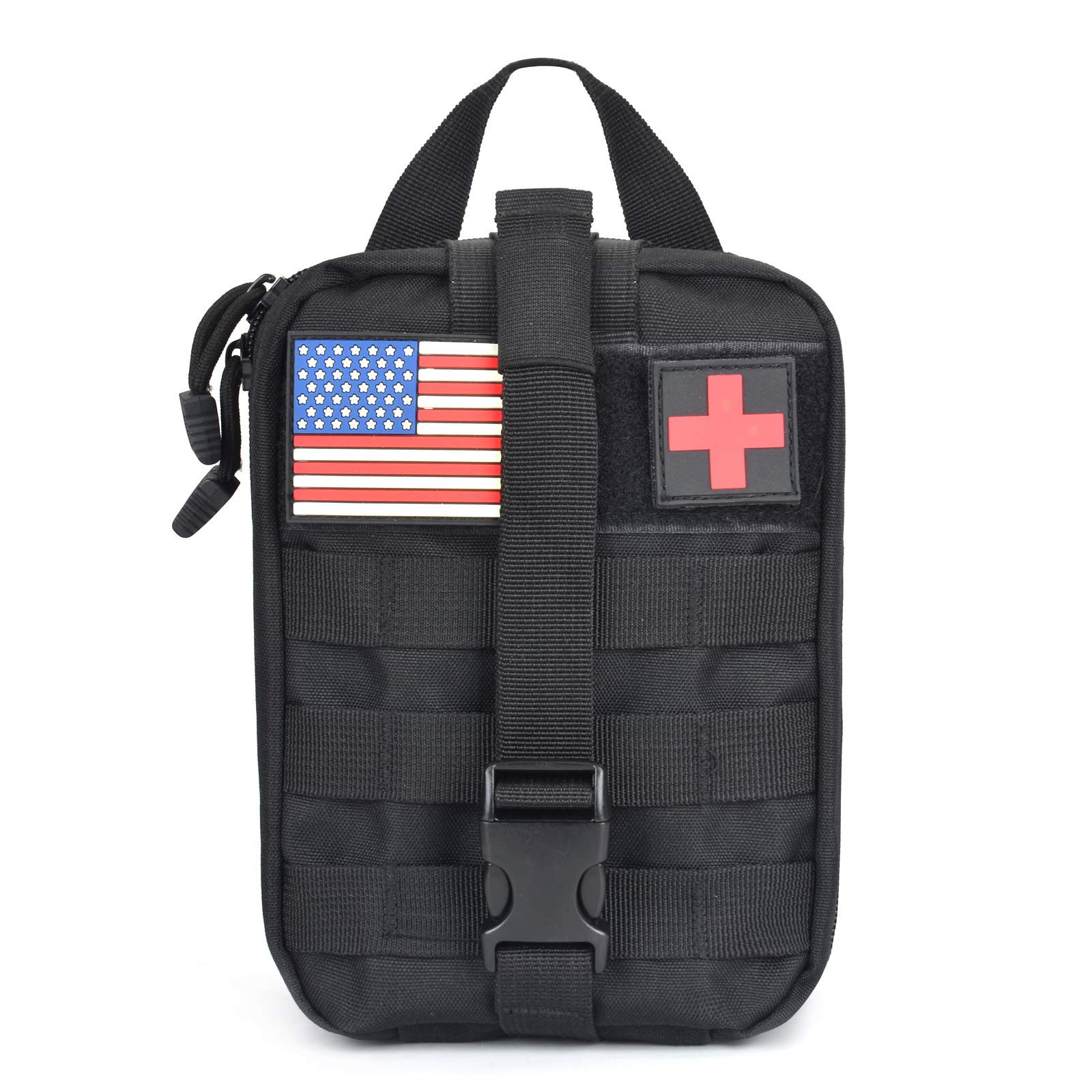 New Gear Expansion pack Medical Backpack MOLLE Medical Pouch EMT First Aid Pouch Rip-Away IFAK Tactical Utility Pouch for Outdoor Activities Medical Supplies