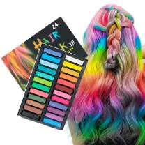 Hair Chalk 24 Colors Hair Chalk for Kids Girl Toys Girls Chalk for Hair Assecories for Girls Temporary Hair Color for Kids Young Teen Girl Gifts for Party Birthday Christmas Hair Chalk Pens Gift for Girls Age 6 7 8 9 10 Years Old
