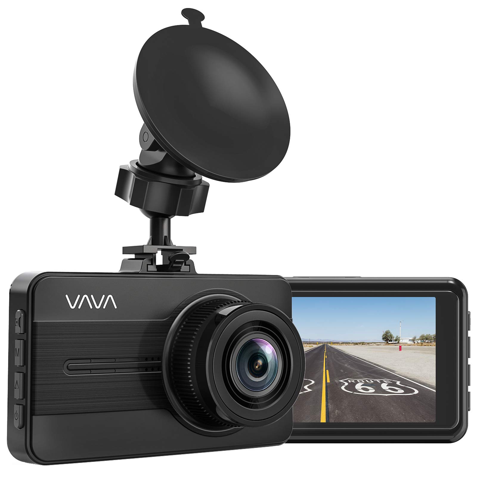 VAVA Dash Cam 1080P Full HD Car DVR Dashboard Camera, Driving Recorder with 3 Inch LCD Screen, Motion Detection, Loop Recording, Black