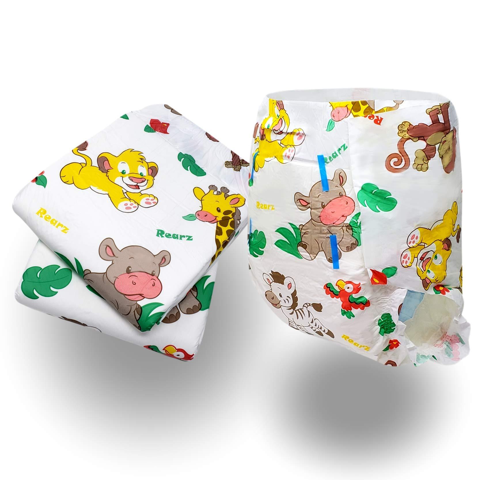 Rearz - Safari - Adult Diaper (Sample 2 Pack) (Medium, 32'' - 40'')