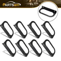 "Partsam 8pc Black Mounting Brackets for 6"" Oval Light,Powder Coated,Truck Trailer RV Boat"