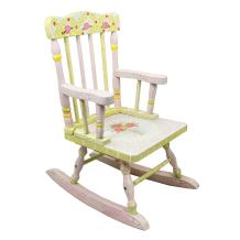 Fantasy Fields - Crackled Rose Hand Crafted Kids Wooden Rocking Chair