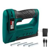 NEU MASTER Staple Gun Cordless, NTC0070 Li-ion Rechargeable Battery Staple guns kit with Staples and USB charger, Power Tacker for Upholstery, Material Repair, Decoration, Carpentry, Furniture DIY