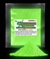1 Ounce Glow in The Dark Pigment Powder Paint for Parties, Paintings and Events - Green
