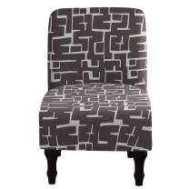 Armless Chair Slipcover Removable Washable Chair Covers Furniture Protector Covers for Living Room Hotel (25)