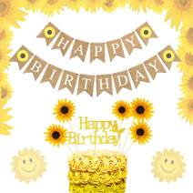 LaVenty Set of 3 Sunflower Birthday Decoration Sunflower Party Supplies Sunflower Decorations Summer Birthday Decoration