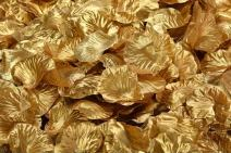 ocharzy 1000pcs Silk Rose Petals Wedding Flower Decoration (Gold)