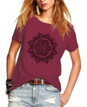 Romastory Womens Fashion Pattern Shirts Short Sleeve T-Shirt Casual Summer Top Tee