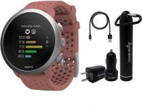 Suunto 3 Fitness Multisport Watch with Heart Rate Monitor and Wearable4U Power Pack Bundle (Granite Red)