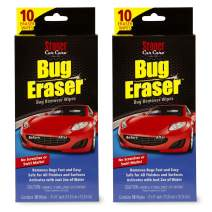 Stoner Car Care 95401-2PK Bug Eraser Car-Cleaning Wipes, Removes Bugs Fast and Easy, Safe for All Automotive Surfaces, 10 Eraser Wipes, Set of 2