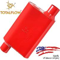 """TOTALFLOW 15543 Two-Chamber Universal Muffler - 2.5"""" Offset In / 2.5"""" Offset Out"""