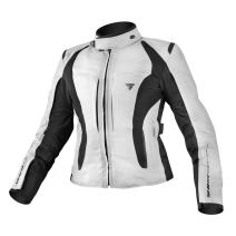 SHIMA VOLANTE LADIES, Slim Summer Protected Vented Textile Motorcycle Jacket for women with Armored (XS-XL) (XS, Grey)