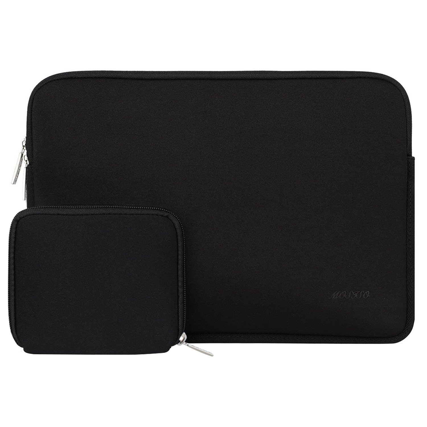 MOSISO Laptop Sleeve Compatible with 2019 MacBook Pro 16 inch Touch Bar A2141, 15-15.6 inch MacBook Pro Retina 2012-2015, Notebook, Water Repellent Neoprene Bag with Small Case, Black