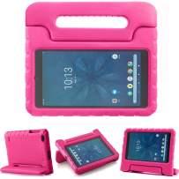 TIRIN Walmart Onn 8 Inch Tablet Case, Light Weight Shockproof Handle Friendly Convertible Stand Kids Case for Walmart Onn 8 inch Android Tablet 2019 Release Model ONA19TB002 - Rose
