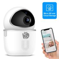 Doenssi Baby Monitor Pet Camera Indoor Security Camera Wireless 1080P HD 2.4G WiFi IP with Pan/Tilt Night Vision Motion & Sound Detection 2 Way Audio MicroSD Cloud Storage for Home Security