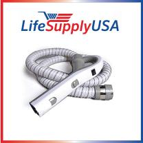 LifeSupplyUSA Pack of 2 Hose Compatible with Aerus Electrolux Aerus Lux Legacy Epic 5000 6000 6500 26-1129-22 Gray