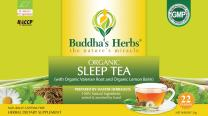 Buddha's Herbs Premium Organic Sleep and Relaxation tea with Valerian Root , Lemon Balm and Chamomile - 88 Tea bags (Pack of 4)